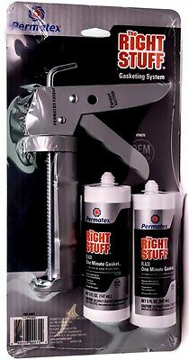 2 Pack of 5 oz with Caulking Gun Permatex 99070 The Right Stuff Gasket Maker