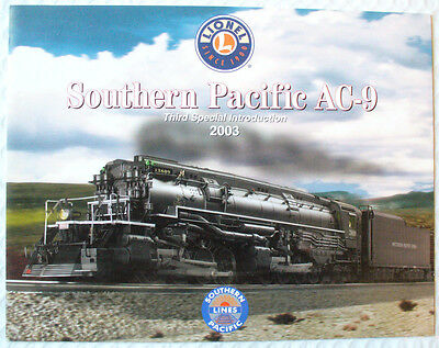 Lionel  Southern Pacific Ac-9   2003  Promotional Flyer
