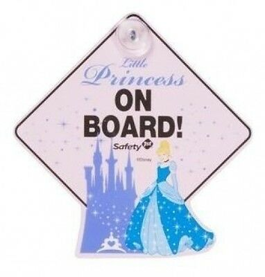 Safety 1st Disney Princess Cinderella Baby on Board Car Window Sign. Huge Saving