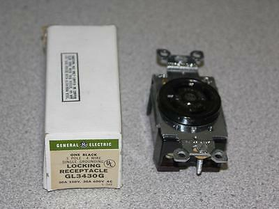 General Electric GL3430G Locking Receptacle, 3 Pole, 4 Wire, 30A, 250V, 3430