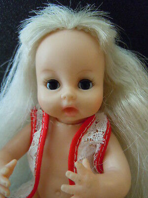 1968 6 in. Vinyl Baby Doll w/ Long Hair by HORSMAN