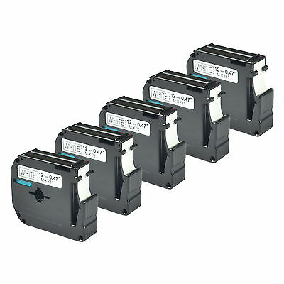 5 PK Black on White Compatible for Brother P-touch Label M231 MK231 PT-55BM 55S