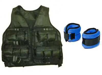 IRONMAN 20lb Weighted Vest Jacket & FREE 4kg ANKLE WRIST WEIGHTS
