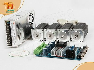 【Super Quality】Nema 23 Wantai Stepper Motor 270oz-in,3A +4 Axis Board CNC Kit