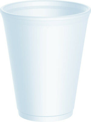 Dart White Disposable Foam Polystyrene Cups Insulated Hot Cold Tea Coffee Party