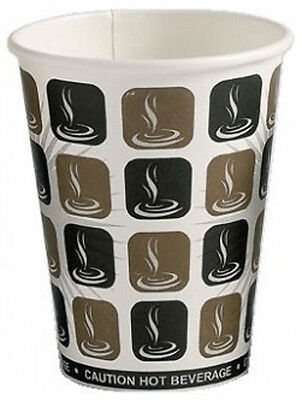 Mocha Paper Hot Drinks Cups - Tea Coffee Espresso Cappuccino Disposable Printed
