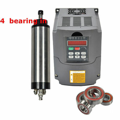 Top Four Bearing 1.5Kw Er16 Water Cooled Spindle Motor &1.5 Kw Inverter Drive