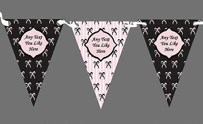 French Vintage Paris Stripes Personalised Shabby Chic Garden Tea Party Bunting