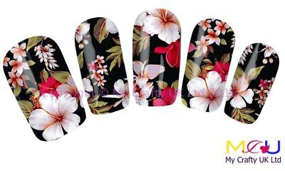 Vivid Pink Orchid Decal Nail Art Stickers, Decals, Tattoos