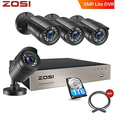 ZOSI 1TB 8CH Firm Shell 1080N 1500TVL Home CCTV Security Camera System + Gift