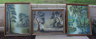 3 x ANTIQUE PAINTING   FROM NORTHERN NSW
