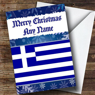 Ancient greek greece personalised birthday greetings card 349 greek flag greece personalised christmas greetings card m4hsunfo