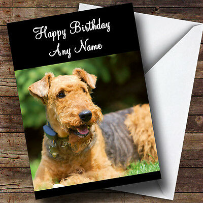 PERSONALISED AIREDALE TERRIER DOG BIRTHDAY ANY OCCASION CARD  Illustrated Insert