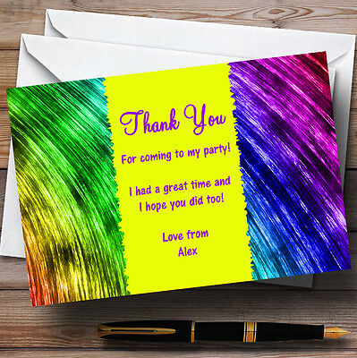 Rainbow Paints Personalised Party Thank You Cards