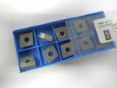 10 pcs ROMAY CORPORATION CNGA 433 T7 CC-5143 Ceramic Inserts