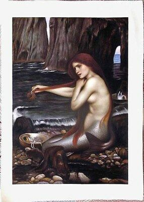 Ölbilder Ölgemälde Gemälde The Mermaid von John William Waterhous 50cmx70cm