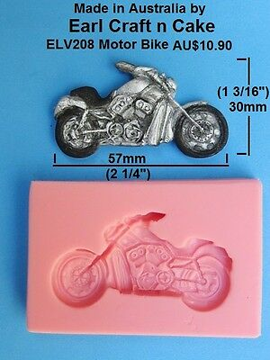 Motor Bike Harley Style Silicone Mould Cake Decorating Gum Paste Sugar topper
