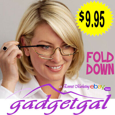 7 SIZES Magnifying Fold Flip Down Makeup Glasses Eyelashes Eye Mascara Cosmetics