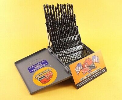 Drill Hog® 60 Pc NUMBER Drill Bit Set Wire Gauge Bits MOLY M7 Lifetime Warranty