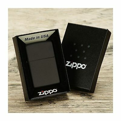 New Zippo Lighter 218 Classic Black Matte Windproof Full Lighters with box