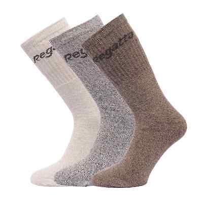Regatta Unisex 3pk Grey Marl Socks