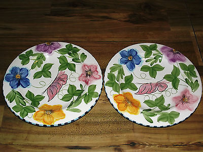 PALASIDES  LAURIE GATES   PLATES      CHINE 2001   CHINA LOT OF 2