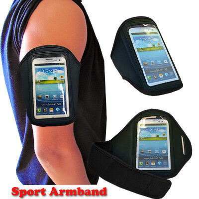 Fit HTC ONE M8 Unisex Black Color Gym Running Tennis Sport Armband Phone Holder