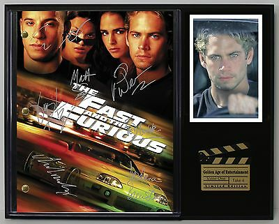 "Fast And The Furious Ltd Edition Reproduction  Movie Script Cinema Display ""c3"""