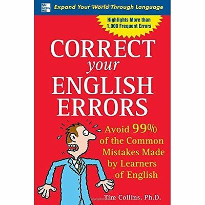 Correct Your English Errors How to Avoid 99% Common Mistakes Made. 9780071470506