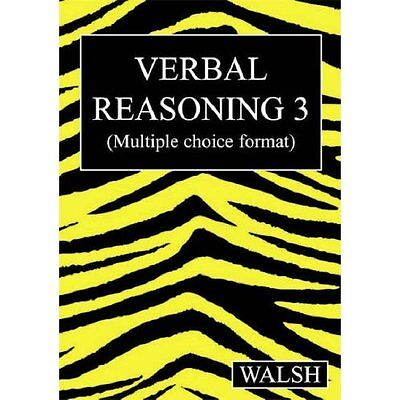 Verbal Reasoning 3 Bk. Walsh bumblebee(UK) Ltd PB / 9780955309922