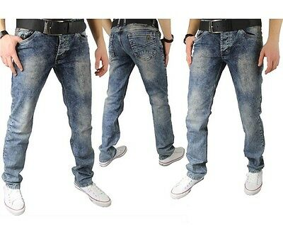 Megaman Herren Jeans Denim Straight Cut Stone Washed Hose 30 31 32 33 34 36  38 8c763ae3b0