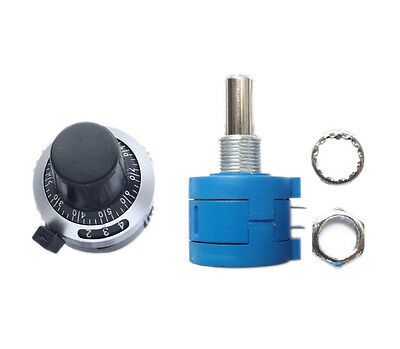 New 10K Ohm 3590S-2-103L Potentiometer With 10 Turn  99 UK Dial Rotary Knob