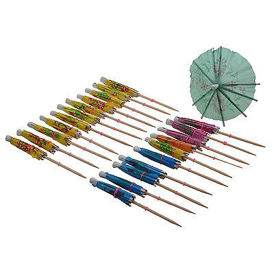 24 Paper Cocktail Parasols Umbrellas Drinks Decoration Accessory Party S*