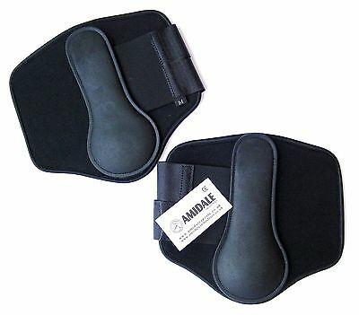 Horse Brushing Boots Equestrian Neoprene And Rubber Great Quality Black Color