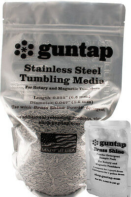 "8 Pounds Stainless Steel Tumbling Media Pins 8lb .047"" x .255"" Made in USA"