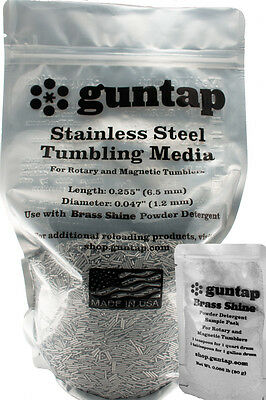 "7 Pounds Stainless Steel Tumbling Media Pins 7lb .047"" x .255"" Made in USA"