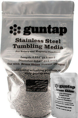 "7 1/2 Pounds Stainless Steel Tumbling Media Pins 7.5lb .047"" x .255"" Made in USA"