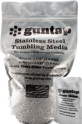 """10 Pounds Stainless Steel Tumbling Media Pins 10lb .047"""" x .255"""" Made in USA"""