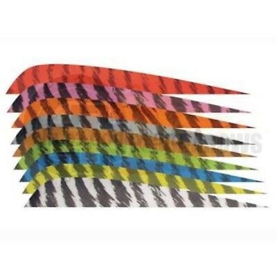 "4"" Barred RW Feathers 12pk for Archery Arrows Traditional Longbow Recurve"