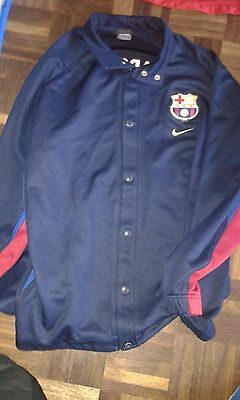 FC Barcelona BASEBALL JACKET WORN XXL Camiseta Futbol Football Shirt