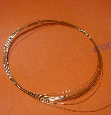 99.99% Gold Au Metal Wire,Diameter 0.1mm, Length 100mm #EWV