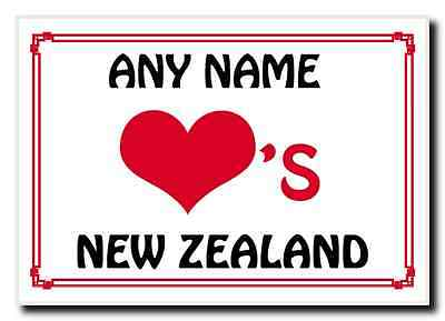 Love Heart New Zealand Personalised Jumbo Magnet