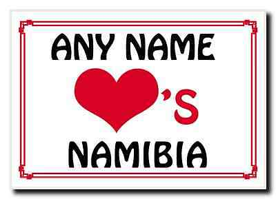 Love Heart Namibia Personalised Jumbo Magnet