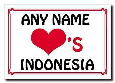 Love Heart Indonesia Personalised Jumbo Magnet