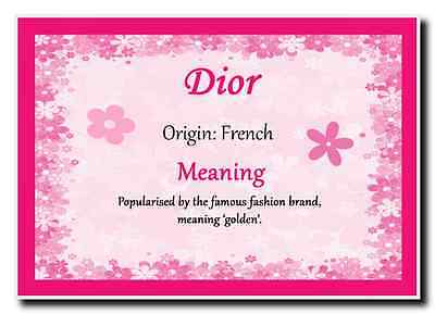 Dior Personalised Name Meaning Jumbo Magnet