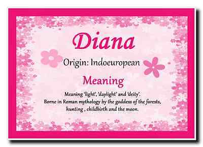 Diana Personalised Name Meaning Jumbo Magnet