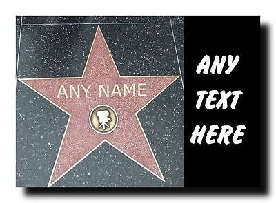 Hollywood Star Personalised Jumbo Magnet