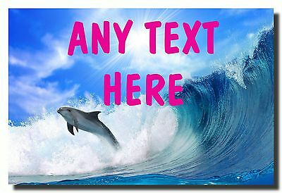 Dolphin Personalised Jumbo Fridge Magnet