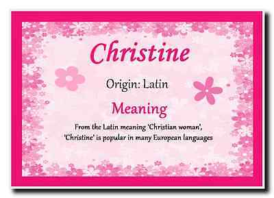 Christine Personalised Name Meaning Jumbo Magnet