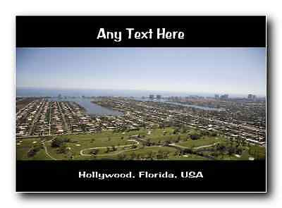 Hollywood, Florida Personalised Jumbo Magnet